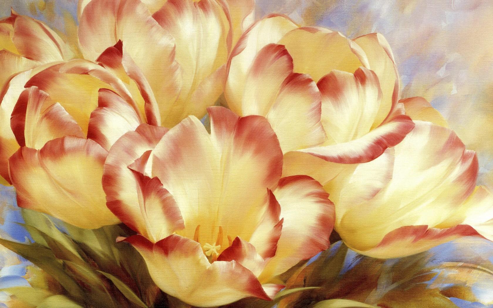 картинка полотно цветов