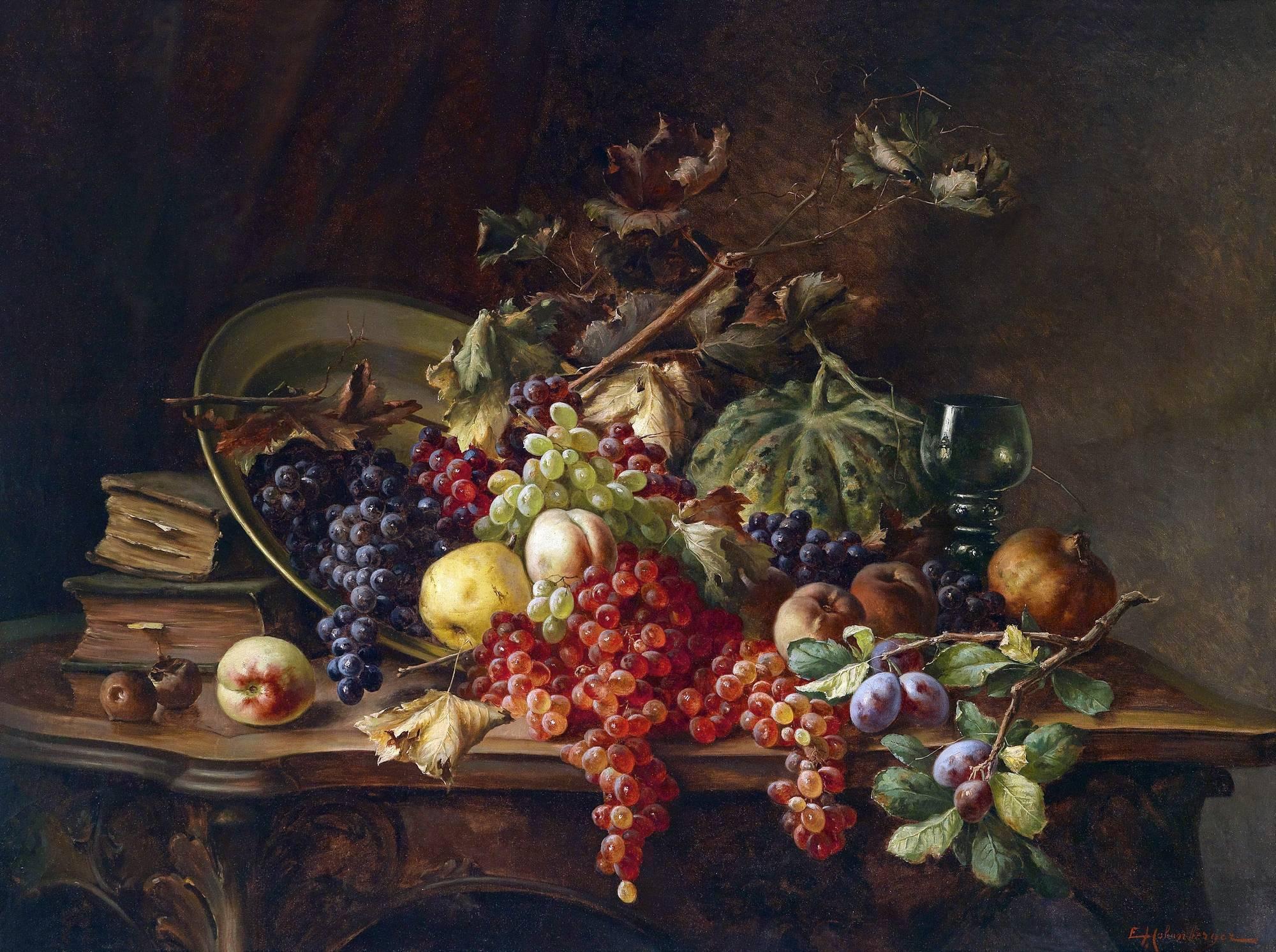 Старинные картинки с фруктами