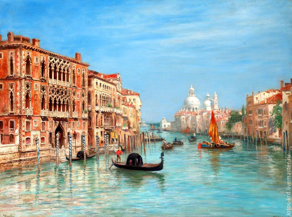 Постер на холсте венеция