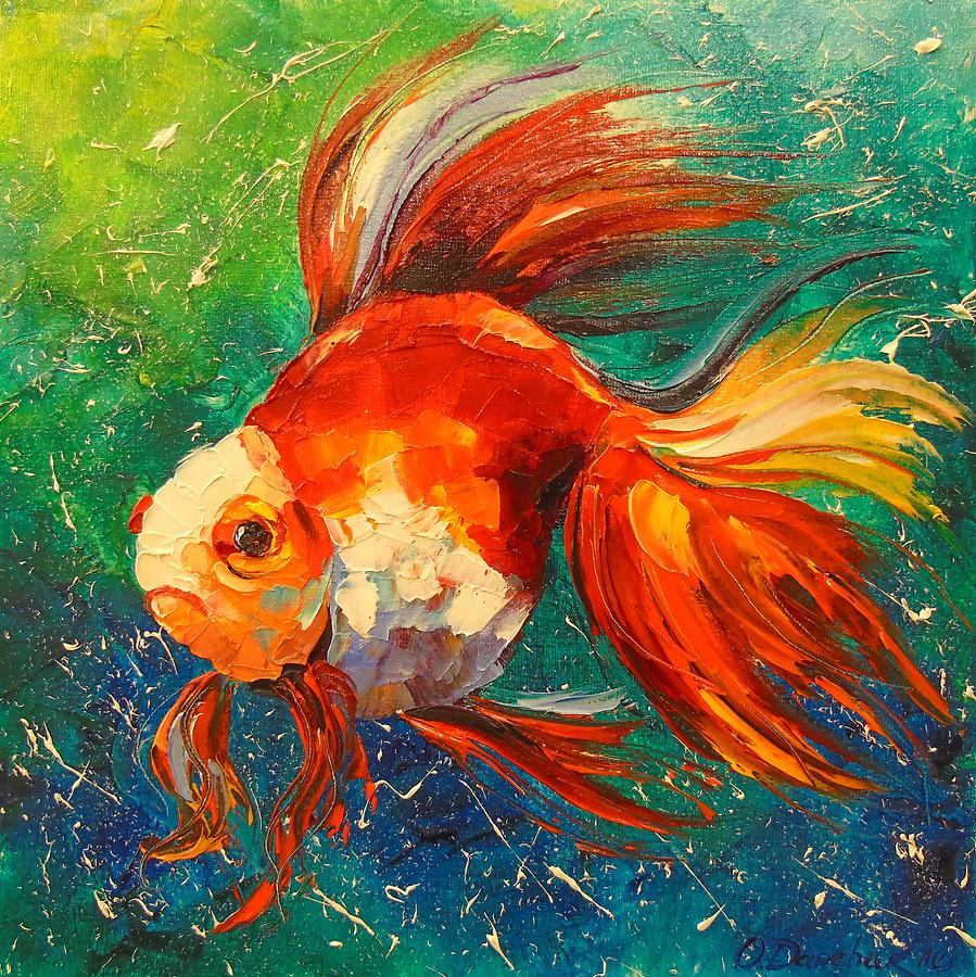 начало картина рыбы маслом фото принесло